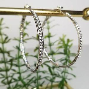 ⭐3/$20 Silver Plated Hinged Hoop Earrings